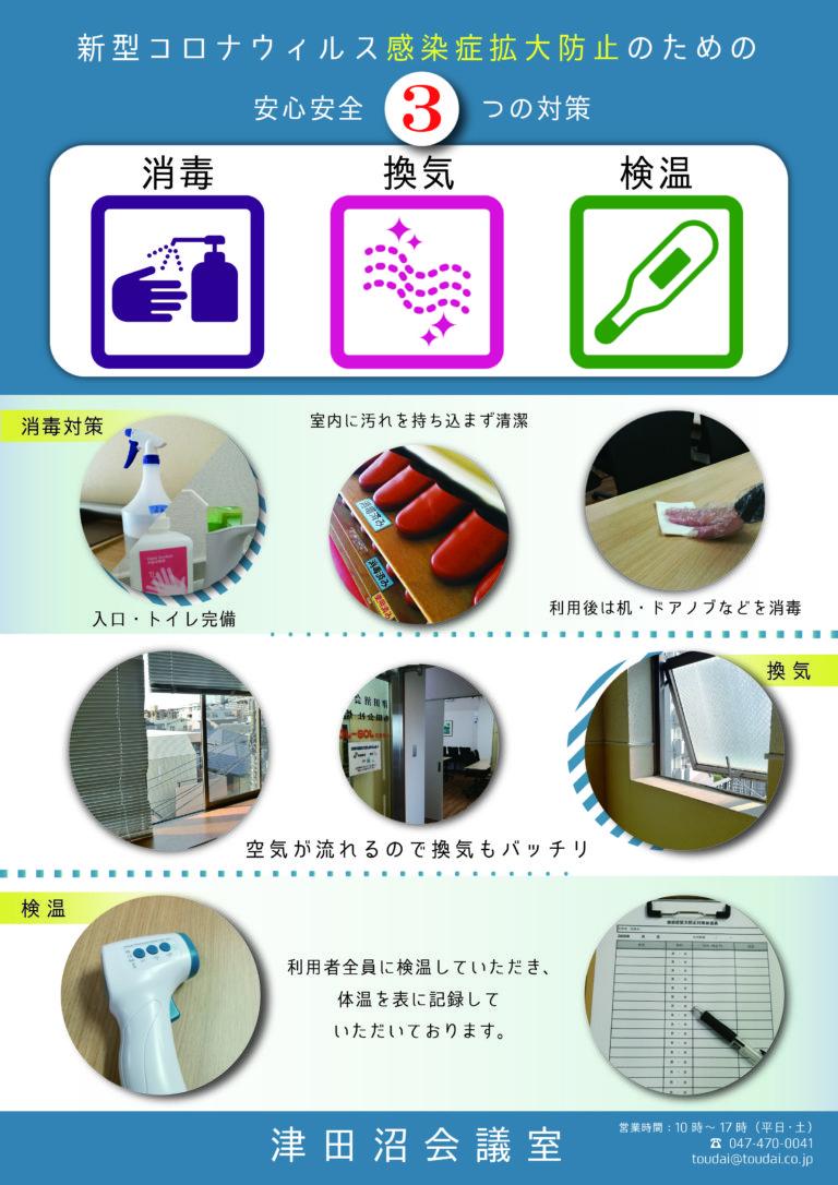 津田沼会議室の感染予防対策